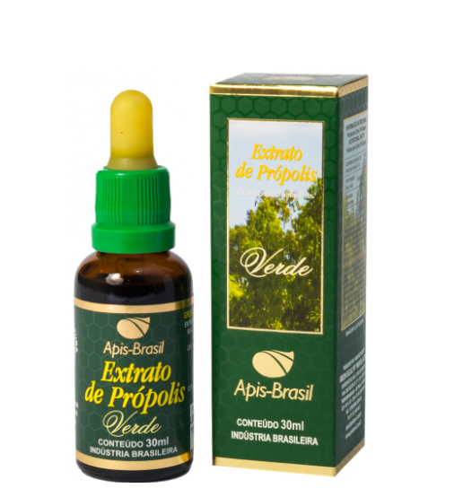 Brazilian Bee Green Extract of Propolis (17%) 30ml - Apis Brasil
