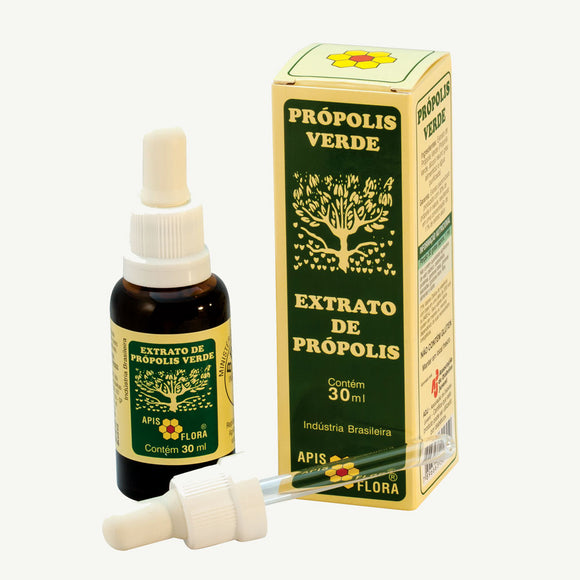 Brazilian Green Bee Propolis Extract 30ml Natural Immunity - APIS FLORA