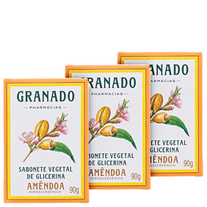 Granado Vegetable Glycerin and Almonds - Soap in Bar 3x90g