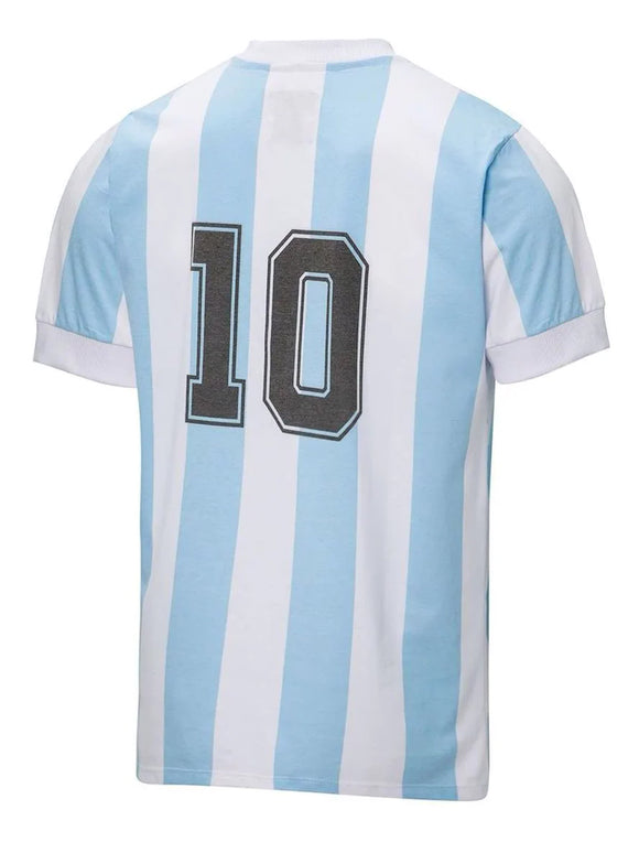 Maradona 10 - Argentina Home Retro Jersey - World Cup 1986 Mexico