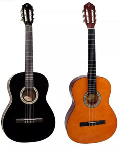 S14 Steel Acoustic Study Guitar Start Model 2 Colors Black or Brown - Giannini