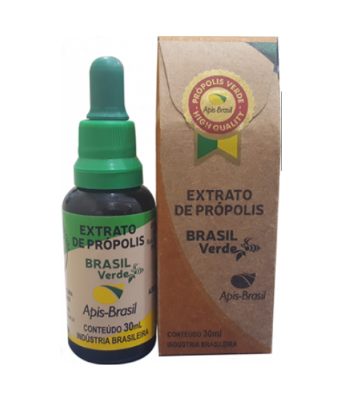 Extract of Bee Propolis 30ml Green Brazil (12%) 30ml - Apis Brasil