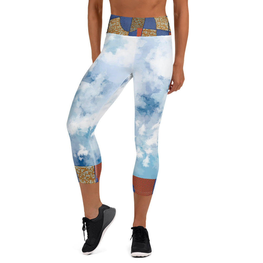 Stylish African Ankara Prints Yoga Capri Leggings