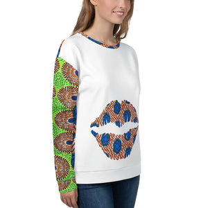White Multi Patterned Ankara Unisex Jumper's