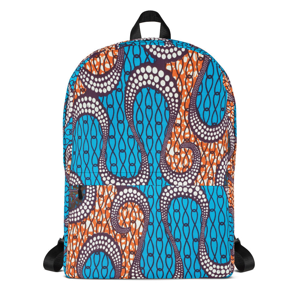 Ankara African Prints Patterned Backpack
