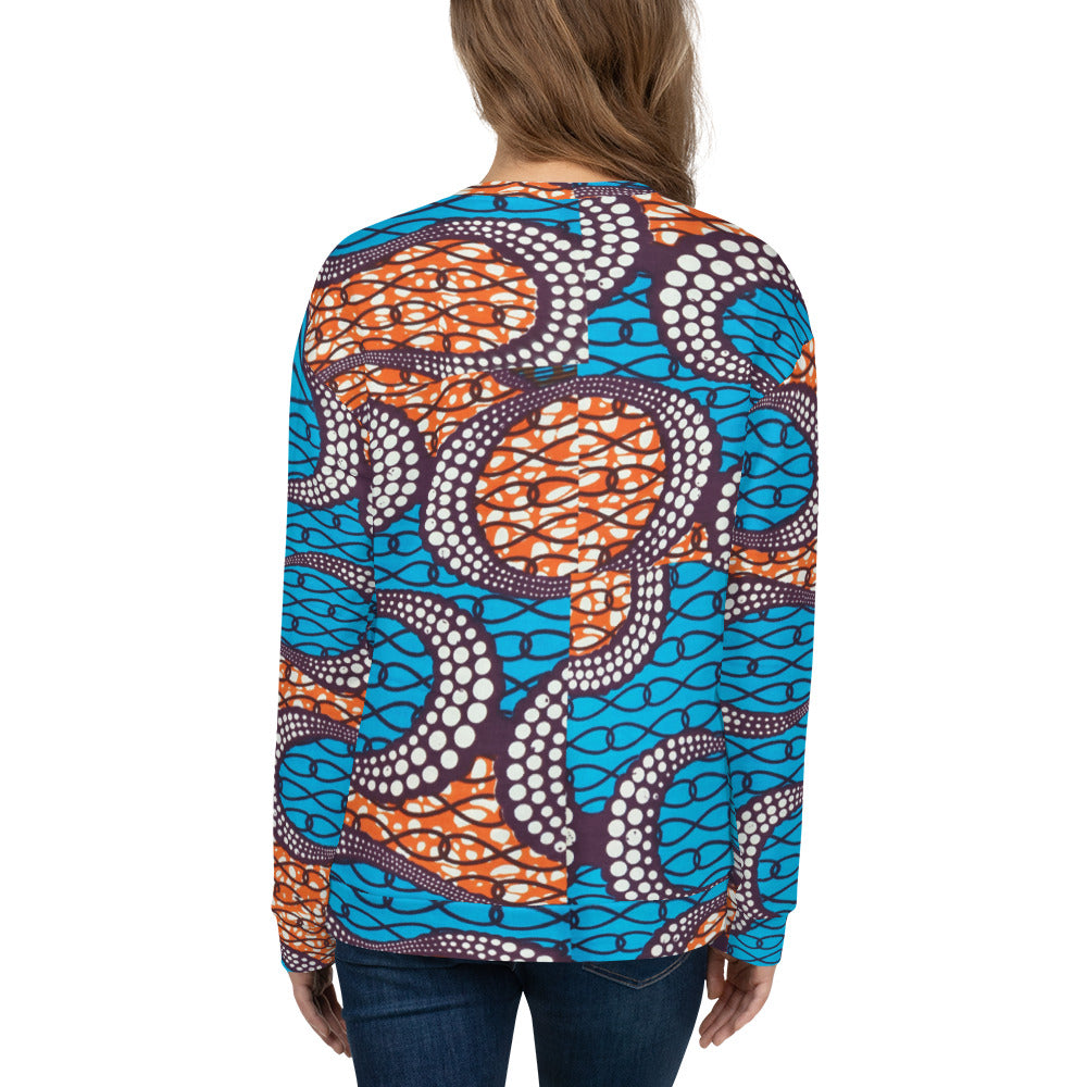 African Ankara Prints Patterned Unisex Sweatshirt/Jumper
