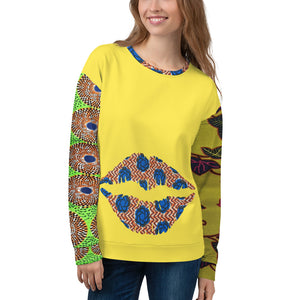 Yellow Multi Patterned Ankara Unisex Jumper