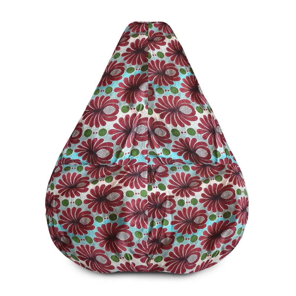 Vibrant Colourful African Ankara Prints Patterned Bean Bag Chair w/filling