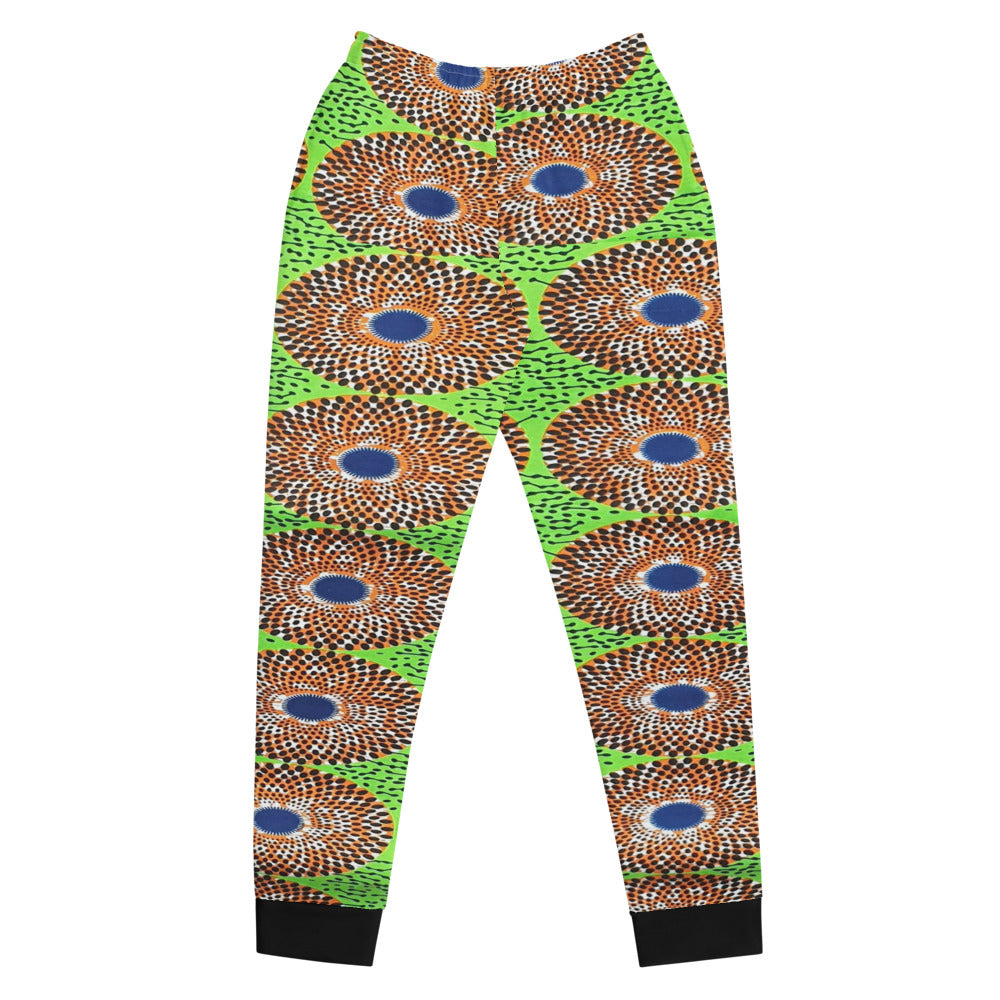 Unique Lemon Ankara Patterned Women's Joggers