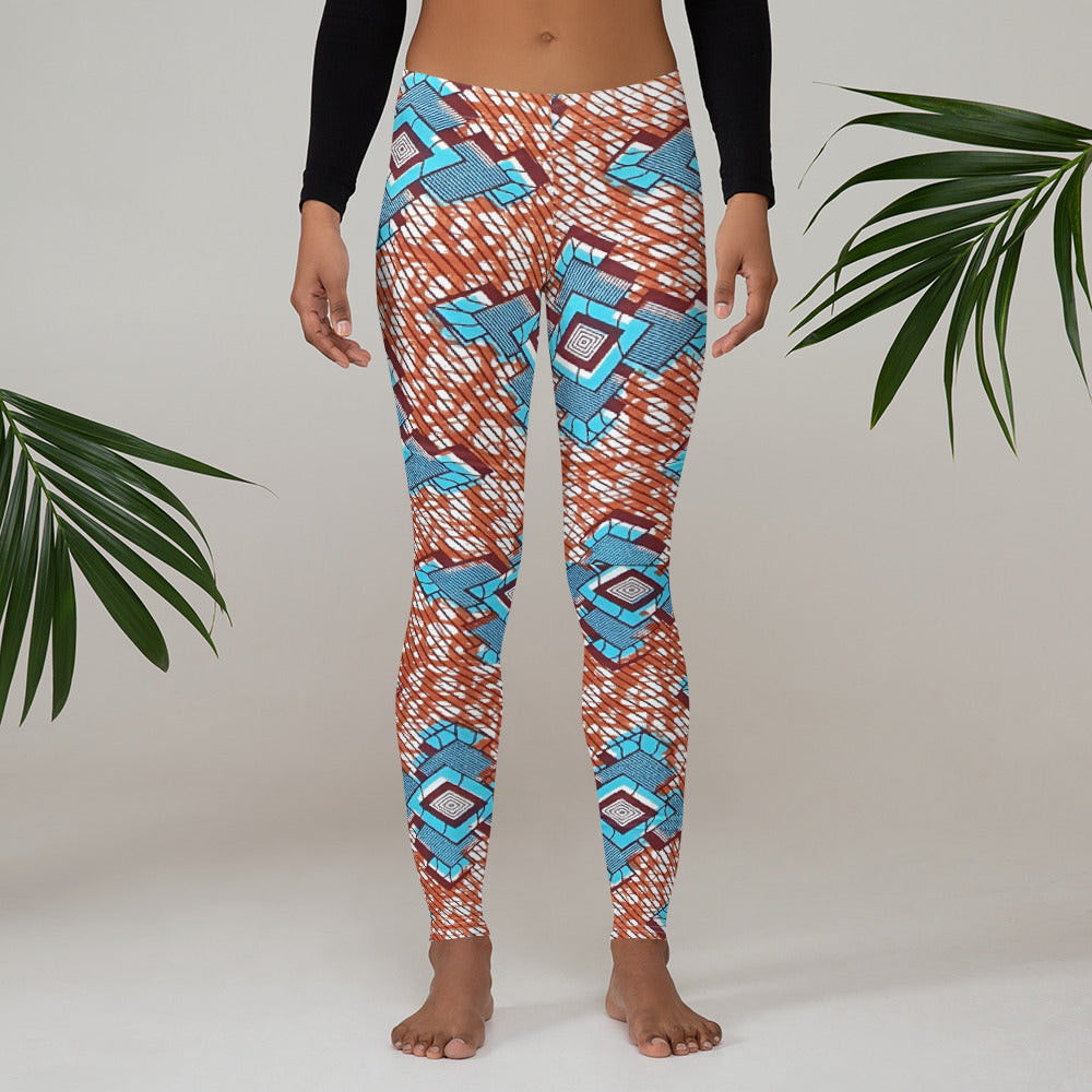 Great Stylish And Colourful Ankara Waxed Prints Patterned Leggings