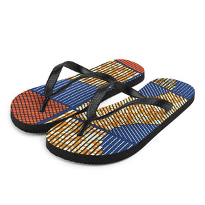 Ankara/African Prints Patterned Flip-Flops