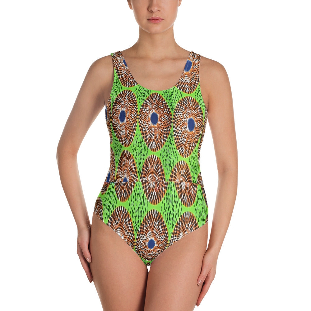 One-Piece Women African Ankara Prints Patterned Ladies Swimwear