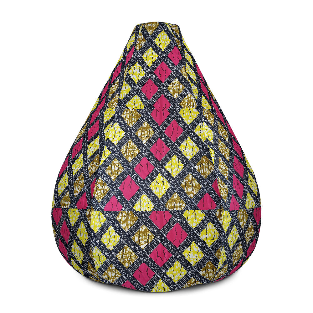 Ankara/ African Prints Bean Bag Chair w/ filling