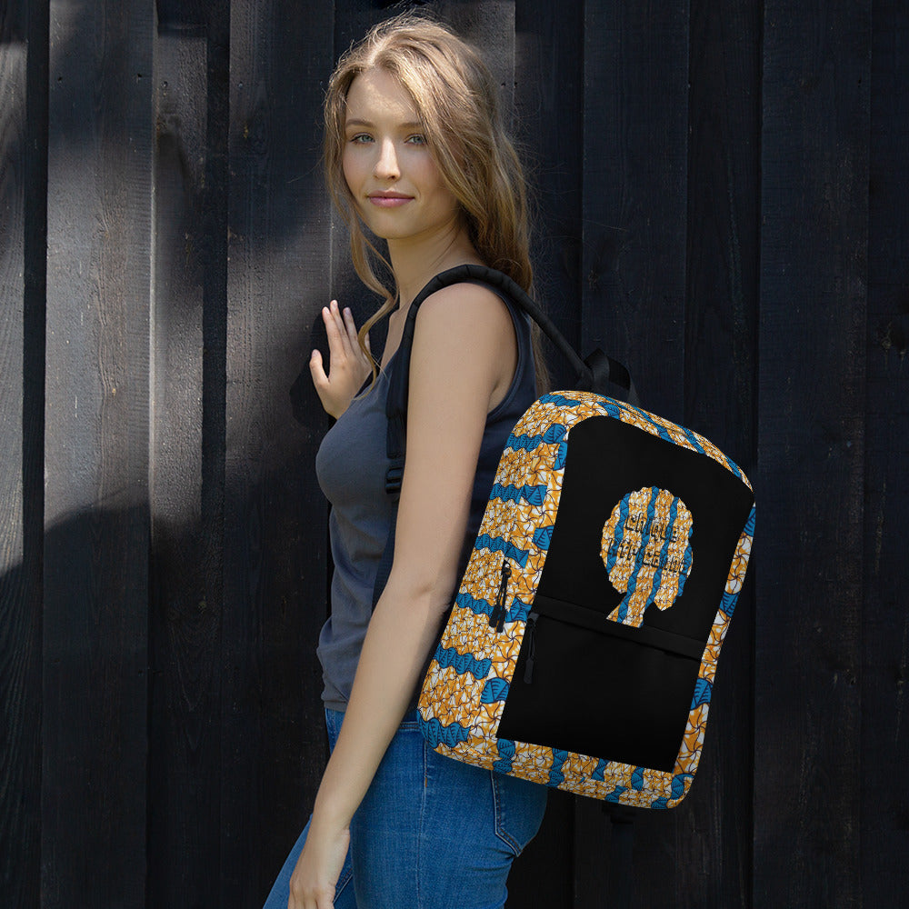 African Ankara Waxed Prints Patterned Backpack