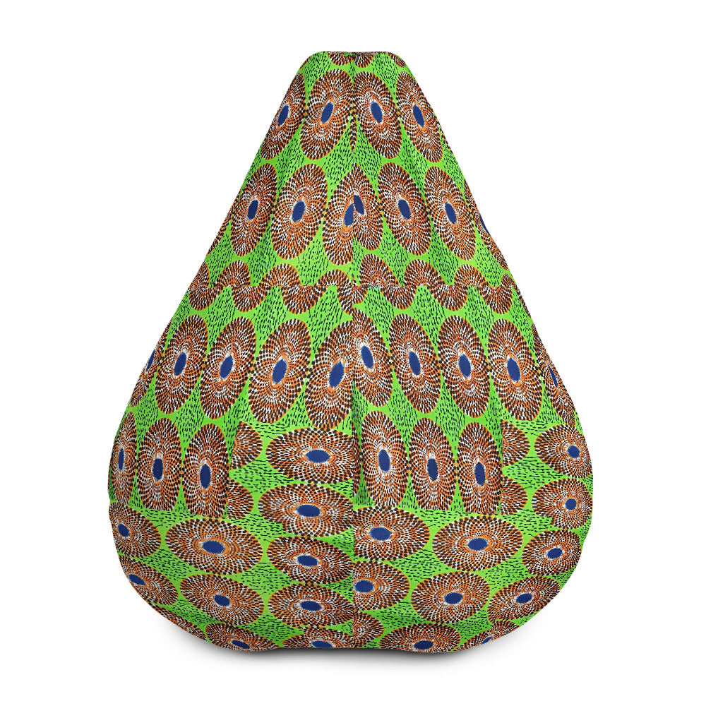 African Ankara Waxed Prints Patterned Bean Bag Chair Cover