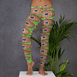 African Ankara Waxed Prints Patterned Leggings
