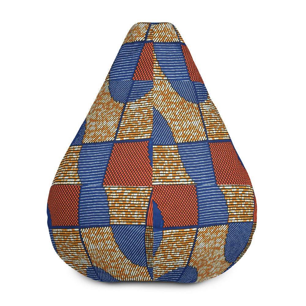 Ankara/African Prints Bean Bag Chair w/ filling