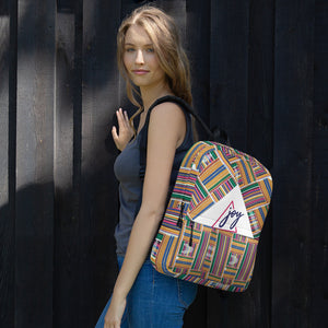 Stylish African Kente Prints Design Backpack Bag