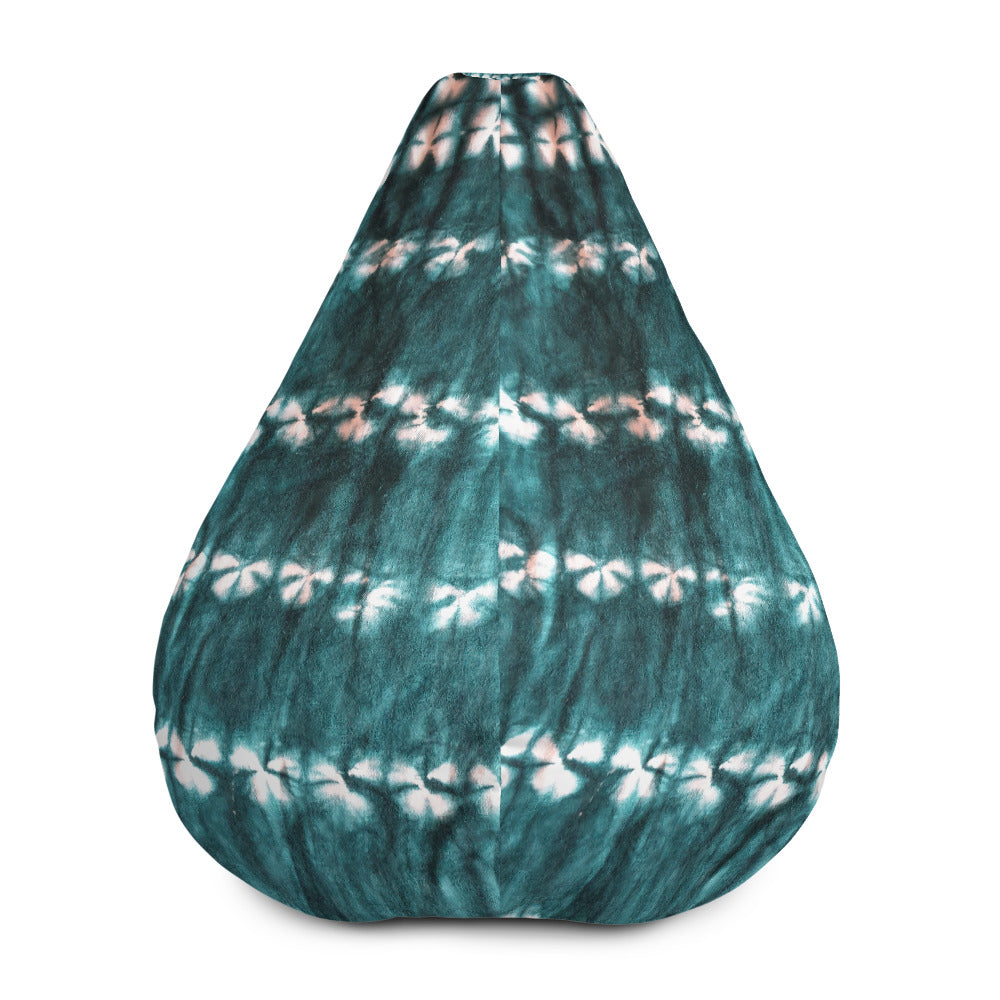 African Tie-dye Patterned Bean Bag Chair w/ filling