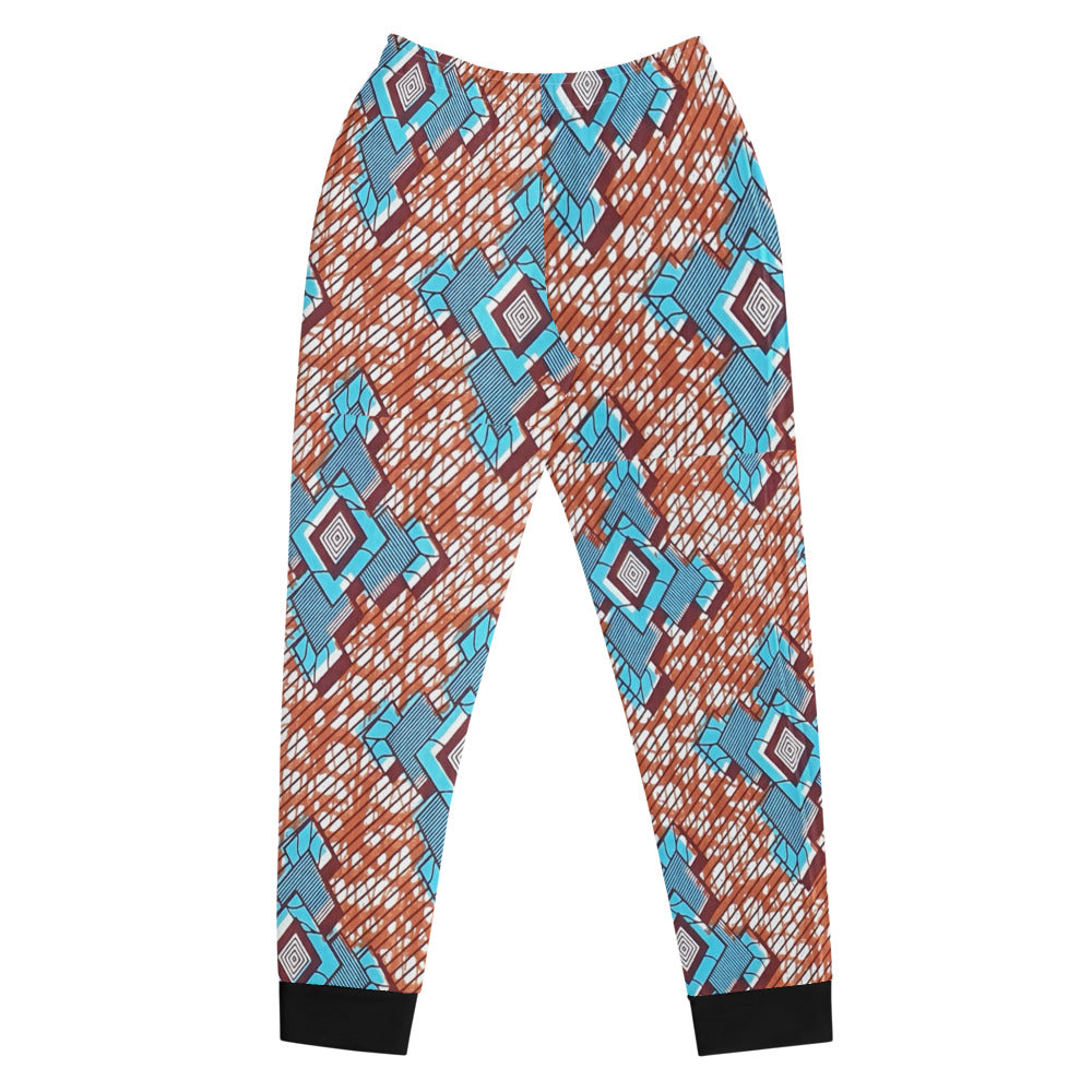 Stylish Brown Ankara Patterned Women's Joggers