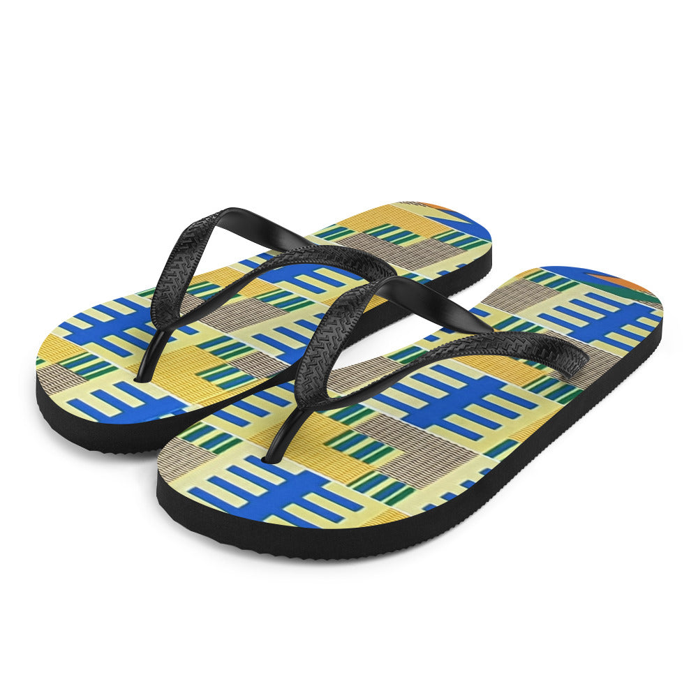 Stylish Kente Flip-Flops