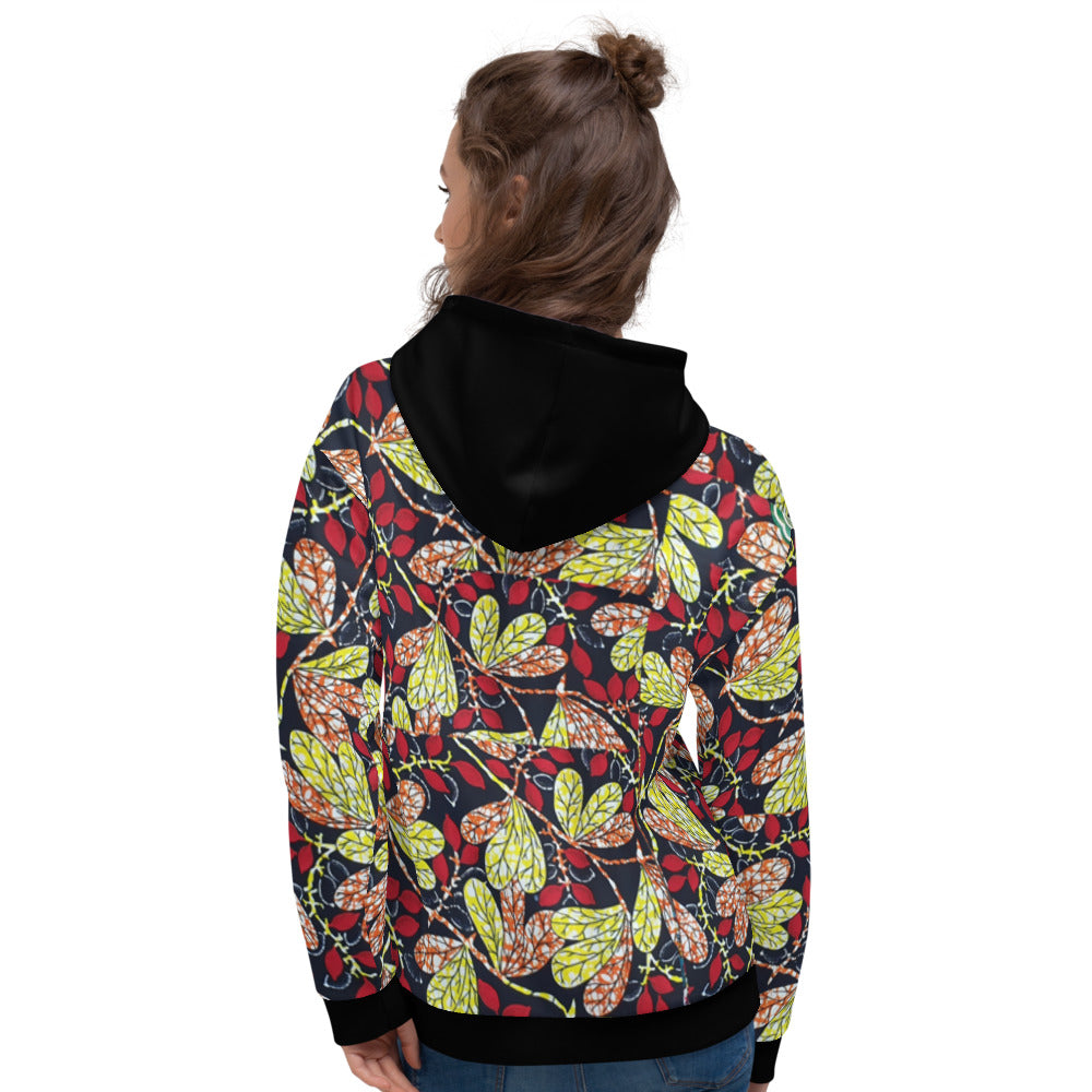 Unisex Stylish Ankara Patterned Hoodie