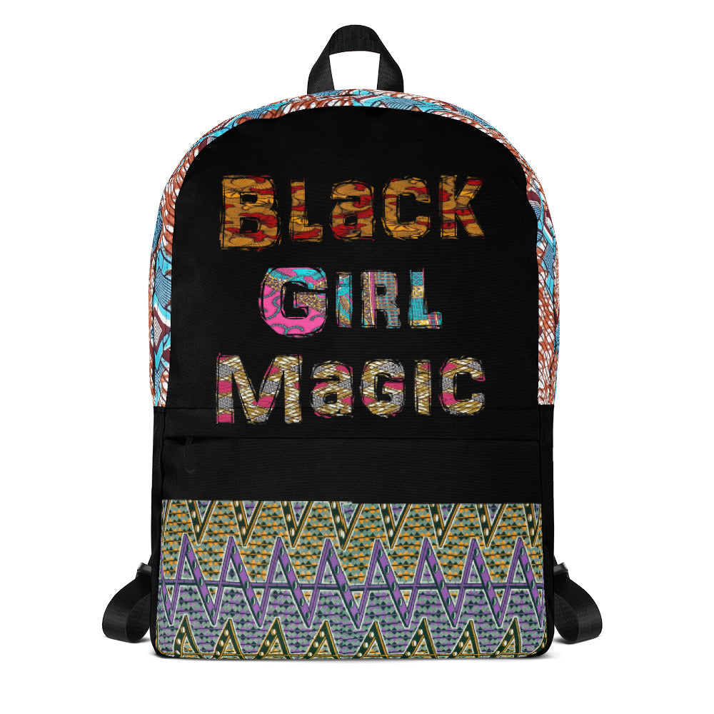 African Ankara Waxed Prints Patterned Women Backpack