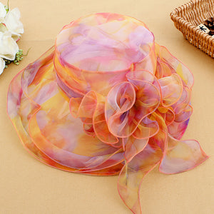 Organza Sun Hat with Bow