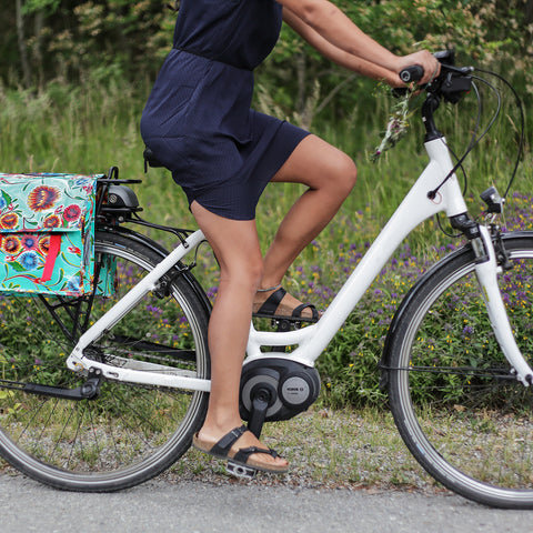 Stylish bike saddlebag. Colourful and original bike accessory