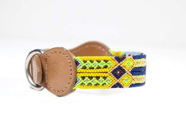 Colourful dog collar - Xsmall yb10