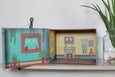 Frida decorative box open. Made in Mexico. Casa Azul