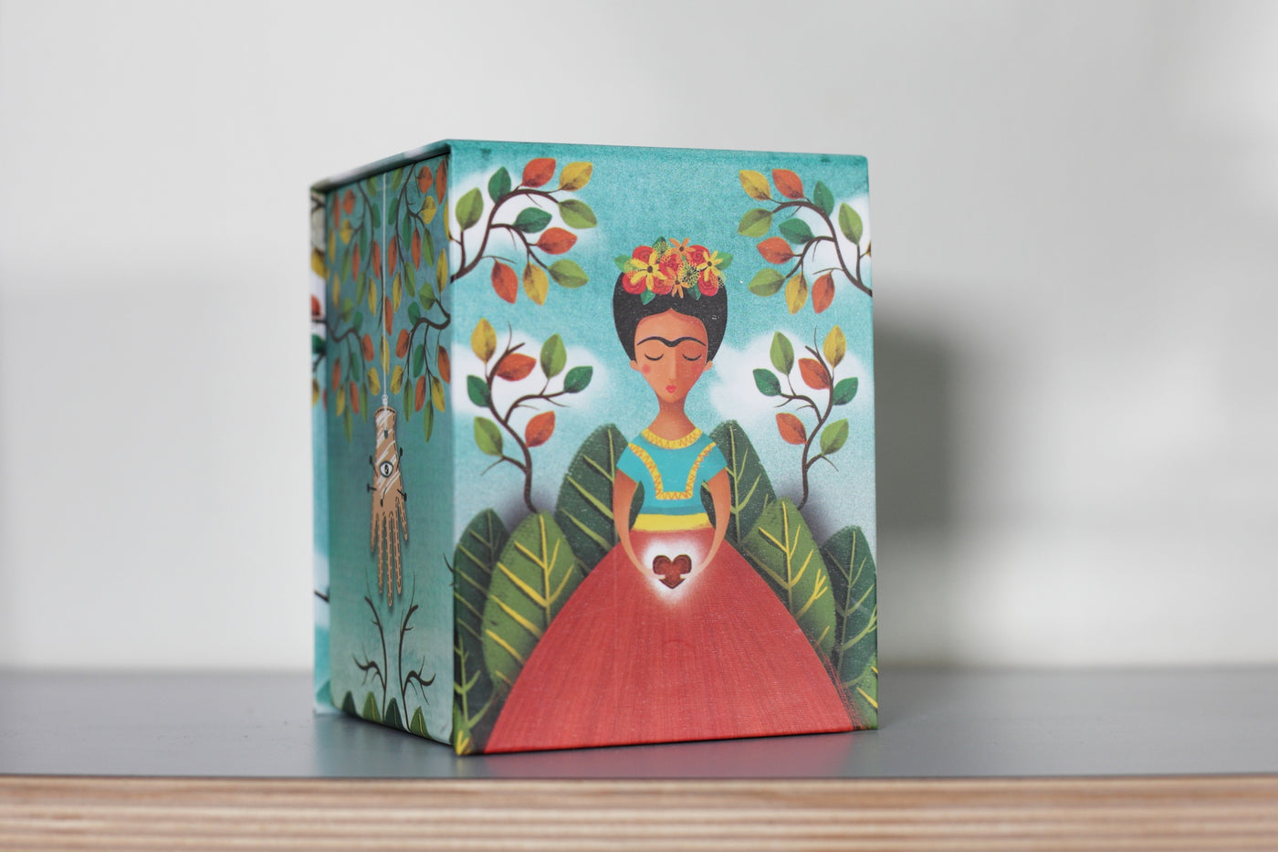 Frida Kahlo box. Made in Mexico. Home deco. rättvis handel