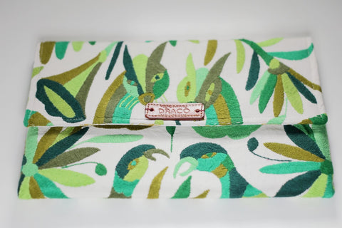Greens Otomí Clutch Bag
