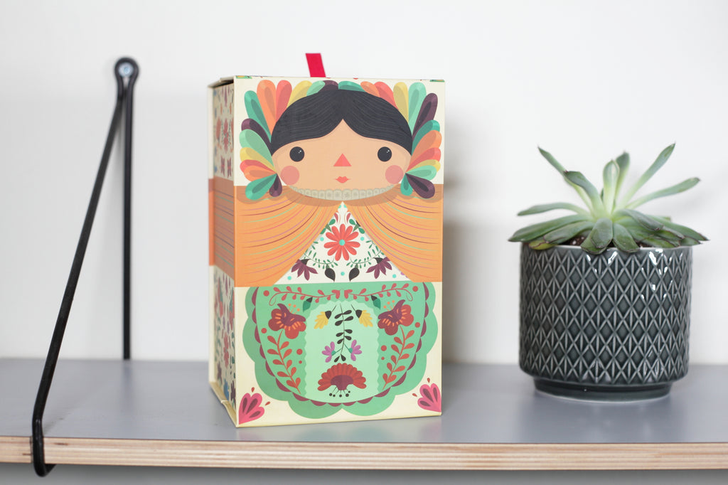 Maria doll box. Mexican dolls. Made in Mexico. Home Deco