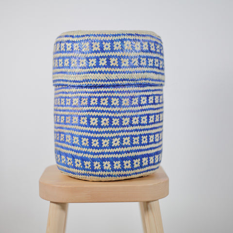 Palm basket - Medium Blue Tenate