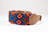 Hundhalsband rolig, colourful dog collar, fundog, handgjort