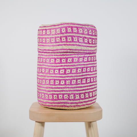 Palm basket - Medium Pink Star Tenate