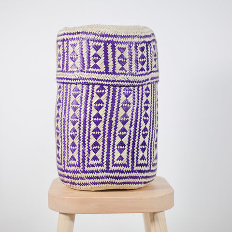 Palm basket - Medium Purple Candy Tenate