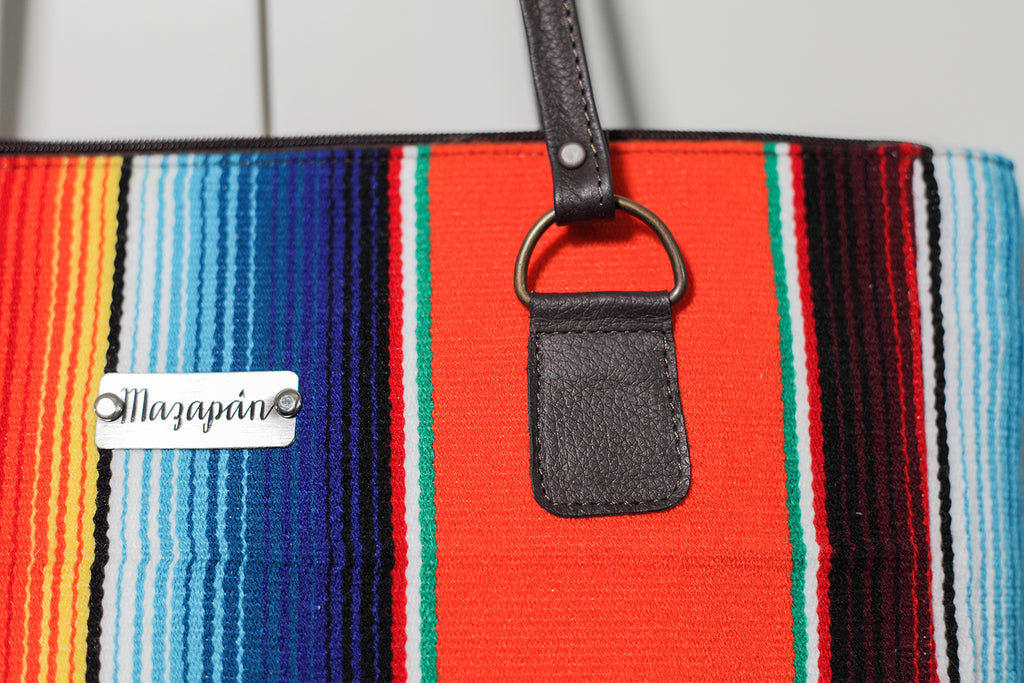 Handmade bag from Mexican sarape. Fairtrade, ethical fashion, etisk handel