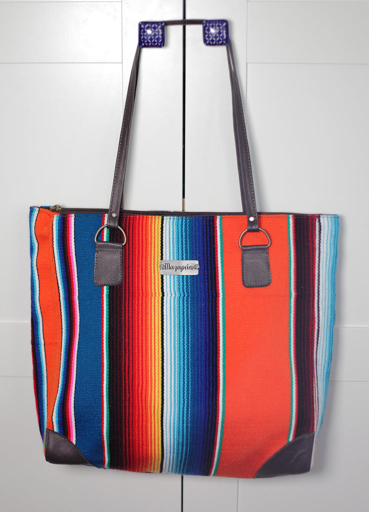 Handmade bag from Mexican sarape. Perfect for summer! Fairtrade, ethical fashion, etisk handel