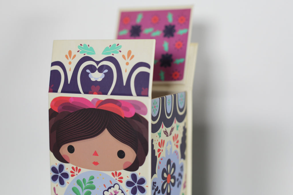 Talavera doll box. Mexican dolls. Made in Mexico.