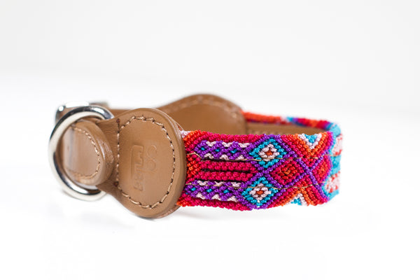 Colourful dog collar - Xsmall orb5