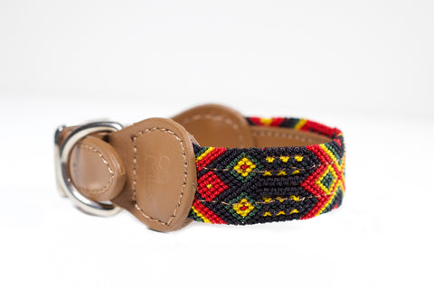 Colourful dog collar - Xsmall rb6