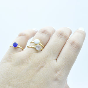 Aylas Agate ring - 21ct Gold plated brass - Handmade in Ottoman Style by Artisan