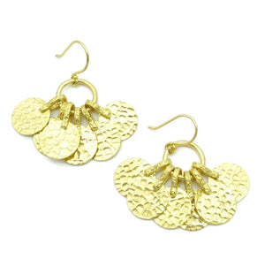 Aylas Coin earrings - 21ct Gold plated  - Handmade in Ottoman style