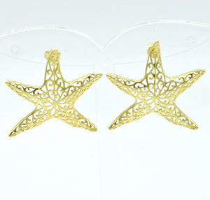 Aylas Starfish earrings - 21ct Gold plated 925 Silver- Handmade in Ottoman style