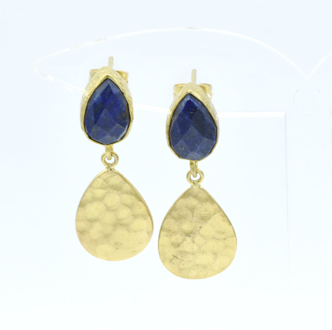 Aylas Onyx and Cat Eye earrings - 21ct Gold plated semi precious gemstone - Handmade in Ottoman Style by Artisan
