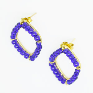 Aylas ottoman gold plated semi precious gem stone earrings Agate - Ottoman Handmade Jewellery Hand Made Gold Plated