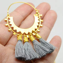 Aylas Tassel Hoop earrings - 21ct Gold plated - Handmade in Ottoman Style by Artisan