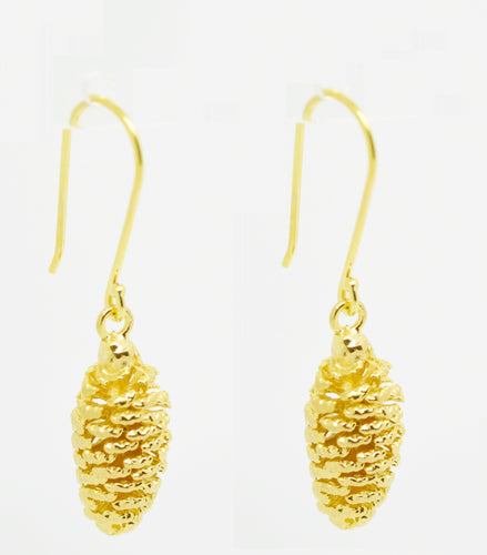 Aylas Pine cone earrings -  Gold plated - Handmade in Ottoman Style
